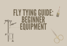 This picture shows the gear of what a person needs to get started tying flies.