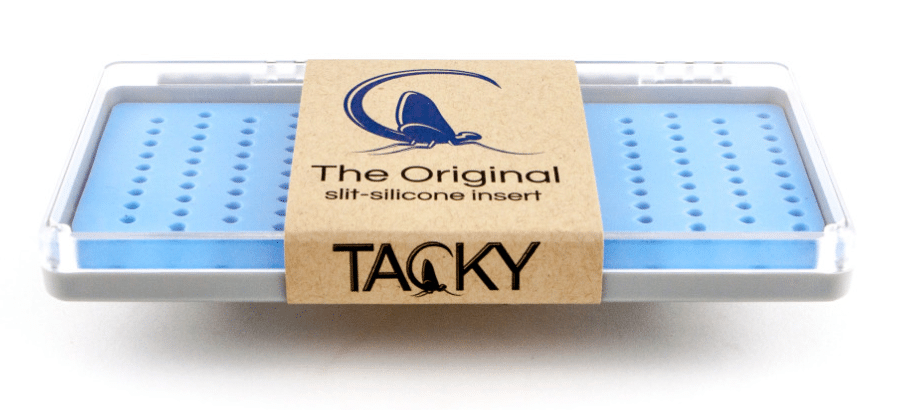 this picture shows the viewers what the tacky fly box looks like.