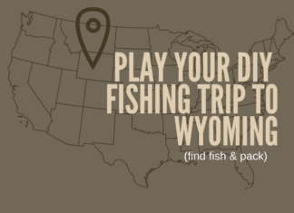 This is a map of where Wyoming is, so they can see where they are planning their DIY fly fishing trip.