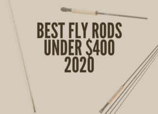 This picture shows the viewer what the best fly rods under $400 look like